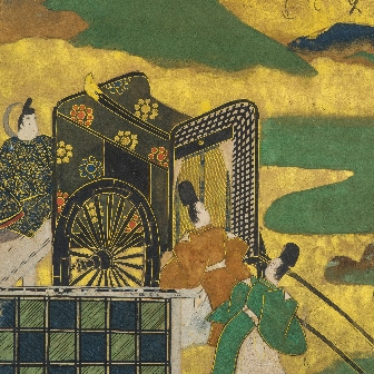 """Scene from The Tales of Ise, Masuda Family Version 2nd Chapter """"Nishi no Kyo"""" (17th century)"""