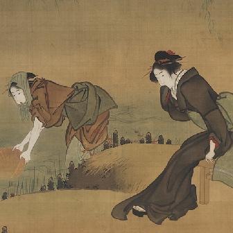Three Beautiful Women at Sumida River Bank (1804-1818)