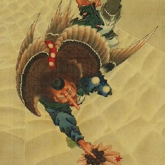 Great Tengu (Long-nosed goblin) (1839)