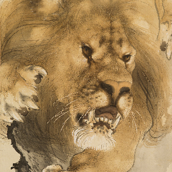 「金獅図(きんじしず)」〈1906年〉