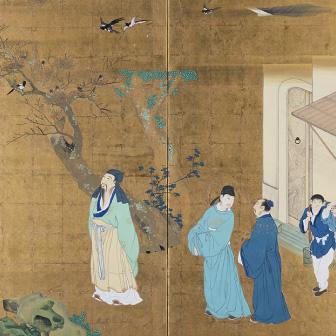 「陶淵明図屏風(とうえんめいずびょうぶ)」〈1778年〉
