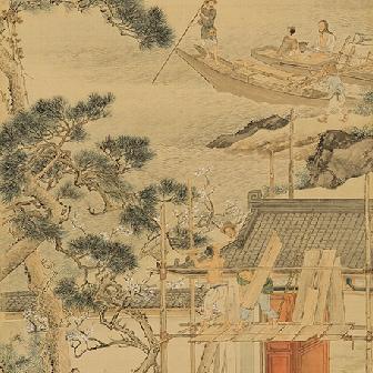 「于公高門図(うこうこうもんず)」〈1841年〉重要文化財