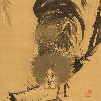 「柳に鶏図(やなぎにとりず)」〈18世紀後半〉