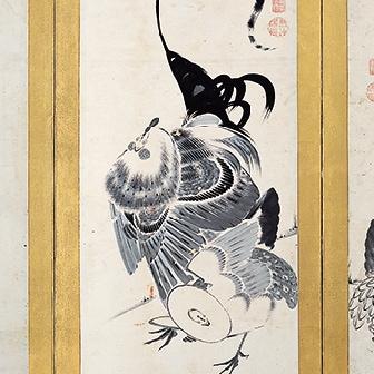 「群鶏図押絵貼屏風(ぐんけいずおしえばりびょうぶ)」〈1797年〉