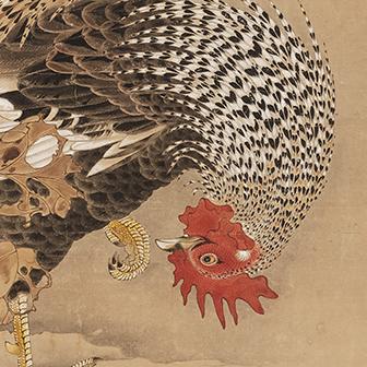 「蕪に双鶏図(かぶにそうけいず)」〈18世紀〉